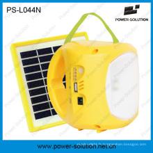 Lampe solaire portative de lanterne de LED avec la batterie de Li-ion et la charge mobile