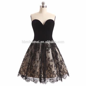 2017 new fashion black color short style wedding dress off shoulder diamond decoration wedding dress bridal