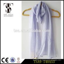 Opción popular de la mezcla del poliester de las lanas de nylon de la bufanda del color sólido invierno necesidad accesorios superiores del estilo
