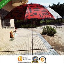 2m noir revêtement extérieur parasol avec SPF 50 (BU-0040B)