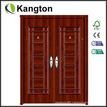 Exterior Commercial Double Steel Door (security door)