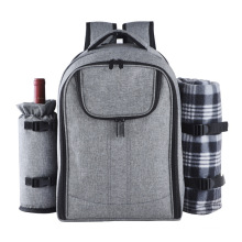 Wholesale waterproof 4 person camping bag with wine bag and blanket
