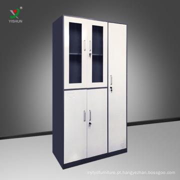 Armário de armazenagem em aço para escritório armário de armazenagem em metal com armário