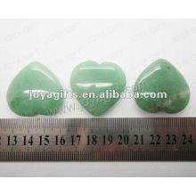 35MM forma de corazón Verde Aventurina, de alta pulido, de alta calidad, forma de corazón natural de piedra
