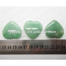 35MM Forme du cœur Aventurine verte, haute polie, haute qualité, pierre naturelle en forme de cœur