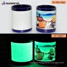 Sunmeta Directly Factory whole sale Patch luminous Sublimation Mug 11oz