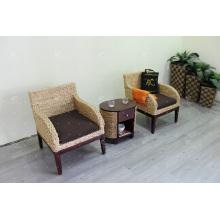 Conjunto de sofá de jacinto de água com estilo extremamente atraente para conjunto de vida interior