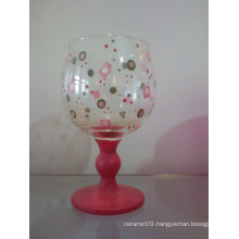 Glass Handpainted Candle Holder (TS015-02)