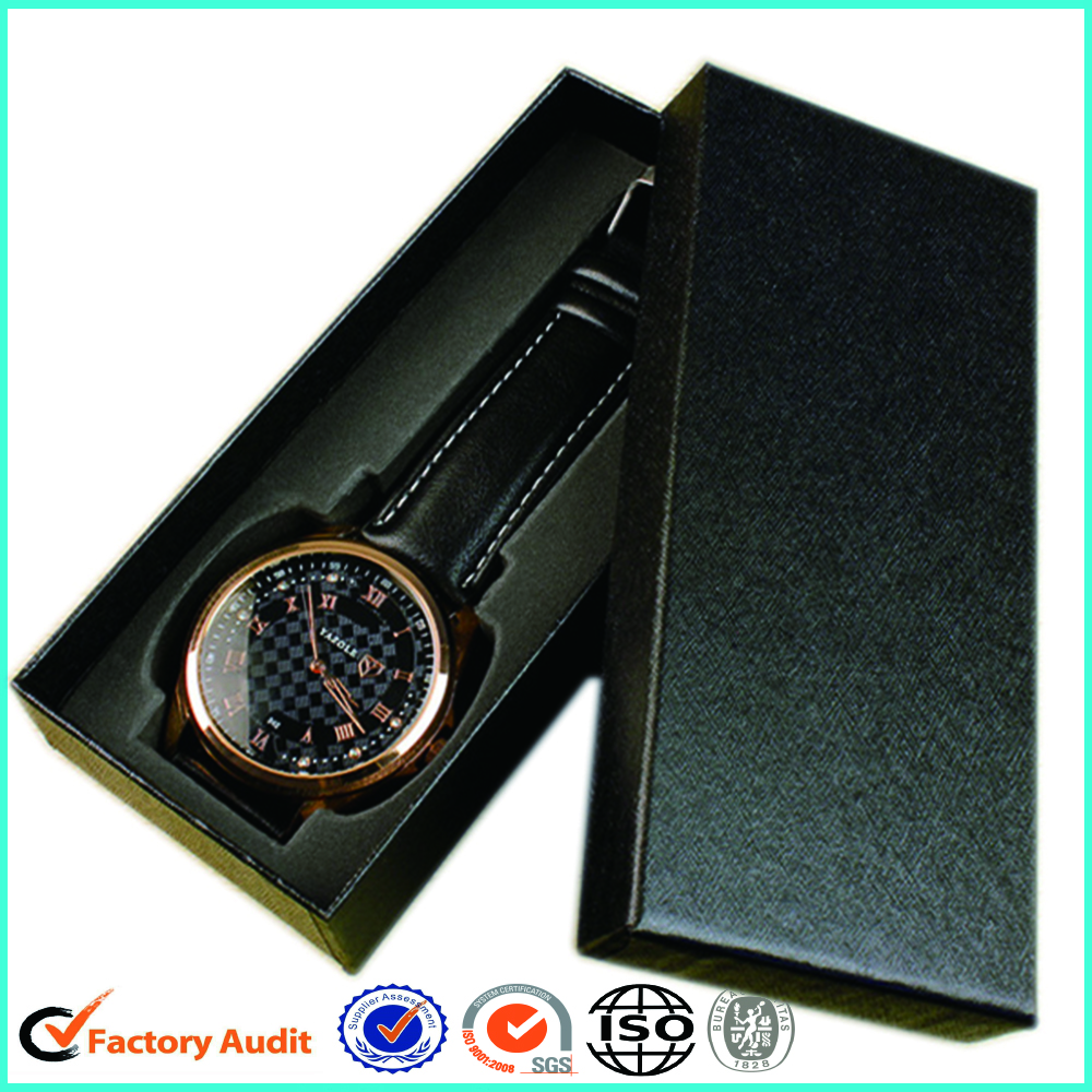 Black Paper Watch Box Packaging