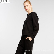 European and American High End Women′s Fashion Sports Leisure Suit Hooded Long Sleeve Sweater Two-Piece Women Sports Suit