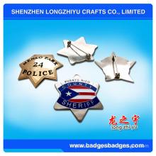 Military Star Sheriff Pin Badge (LZY-000399)