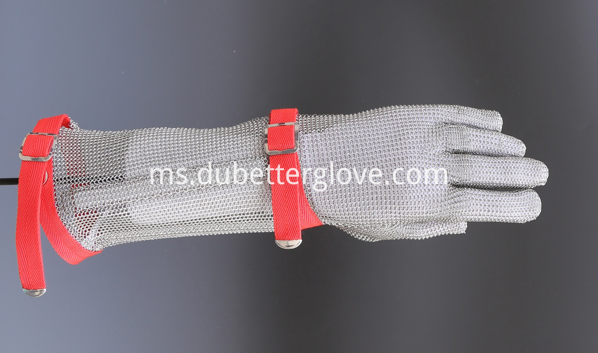 steel mesh gloves with long cuff