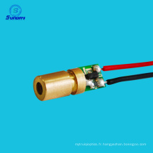 Meilleure vente module de diode 650nm 6mm 3v 5mw mini tête de module de diode laser