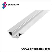 Perfil de alumínio da oxidação de prata 6063 de 520mm / de 1020mm / de 2000mm / 3000mm com CE RoHS