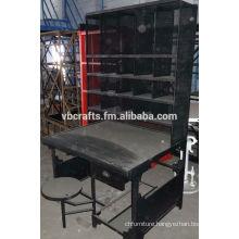Vintage Industrial Post table Cabinet