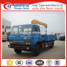 Dongfeng 5 ton XCMG straight arm crane for sale