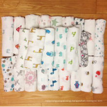 Different patterns fat owls designs cheap cotton baby muslin swaddle blanket