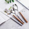 ABS Plastik Menangani Sterling Silverware Cutlery Set Reusable