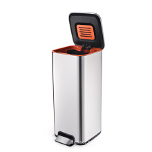 Foot pedal stainless steel trash can stainless steel waste bin garbage can kitchen container with lid