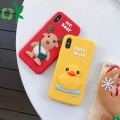 3D Yellow Patti Duck silikon Phone Cover Case