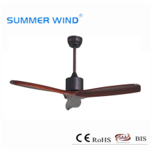 Real wood 3 blades ceiling fan without light