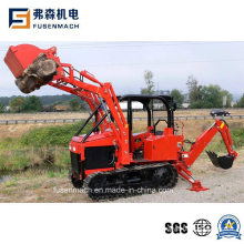 Ce Approved Mini Track Tractor with Front Loader and Backhoe