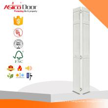 ASICO 24 in. x 80 in. 6-Panel Primed Solid Wood Interior Closet Bi-fold Door
