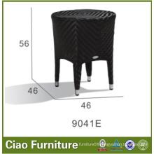 Black Color PE Rattan Side Table