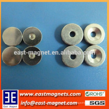ring neodymium magnet with groove for sale/contersink rrare earth magnet with hole