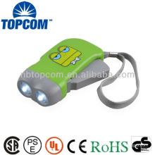 Best quality energy saving hand pressing flashlight