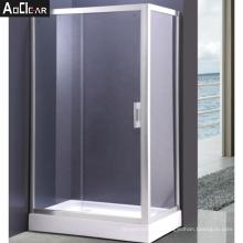 Aokeliya Sliding Shower Enclosure Set with Single Slide Glass Door