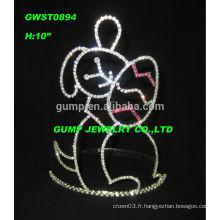 Tiara de couronne de Pâques, couronne de courte durée de Pâques, Tiara de couronne de lapin
