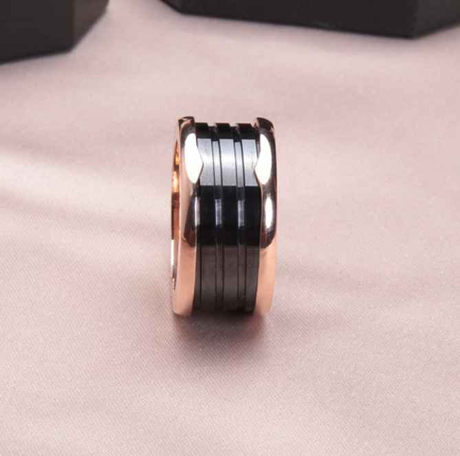 Brand Black Ceramics Spring Rings For Women
