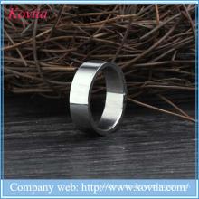 2015 nouveaux produits titane acier hommes anneau titane argent 316l anneaux en acier inoxydable