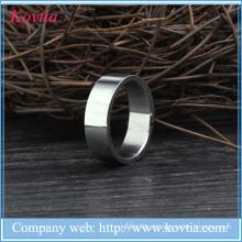 2015 novos produtos titânio aço homens anel de titânio prata 316l anéis de aço inoxidável