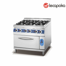 Stainless Steel Gas Range with Oven