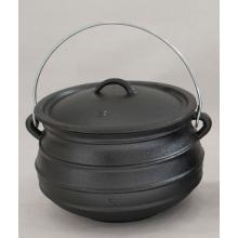 Waxed or Pre-seasoned Cast Iron Flat Potjie Size 1/2