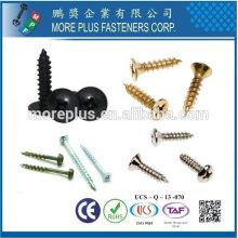 Taiwán Acero inoxidable Torx cabeza plana 45 o 60 hilos ángulo Panel de partículas de tornillo