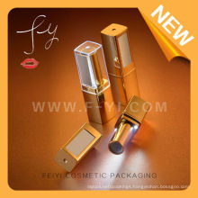 Golden Plastic Led Lipstick tube with button