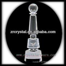 diseño atractivo trofeo de cristal en blanco X072