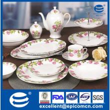 45pcs super white porcelain dinnerware with 2 tier fruit set