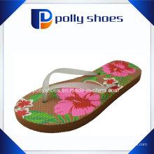 Senhoras novas ′ Sandálias Flip Flop Floral Print Beach Tamanho 36