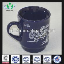 M042 Taza de cerámica de la Navidad del modelo Snowscape