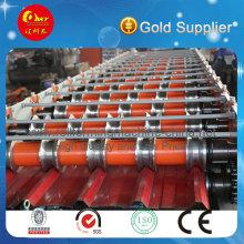 PLC Automatische Farbe Stahldachblech Rollenformmaschine