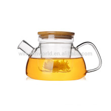 High quality borosilicate glass tea kettle with glass infuser 600ml