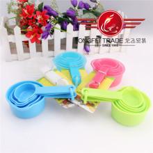 5 PCS Farbige Kunststoff Messbecher und Löffel Set