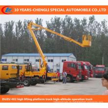 Caminhão da operação da alta altitude 6wheels, caminhão de levantamento alto da plataforma