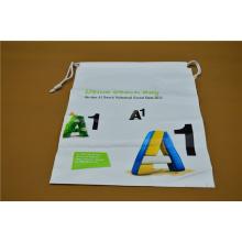 Saco de embalagem de plástico com cordão impresso personalizado (hdpl-5)