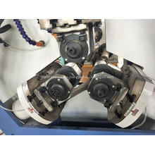 Máquina laminadora de roscas de tubos de acero con tres ejes