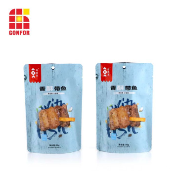 Niestandardowe logo Doypack Pouch Dried Fish Snack Packaging
